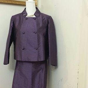 Used, Valentino Roma purple 2 piece suit sz 16 for sale